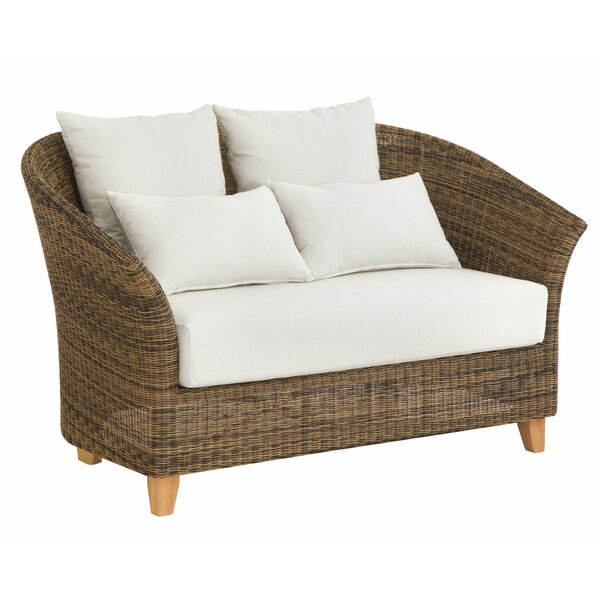 Todd Deep Seating Loveseat with Sunbrella Cushions by Bayou Breeze