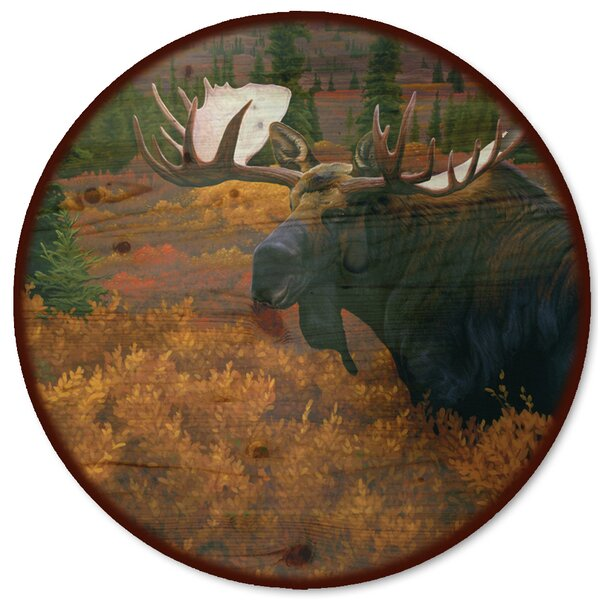 Denali Autumn Moose Lazy Susan by WGI-GALLERY