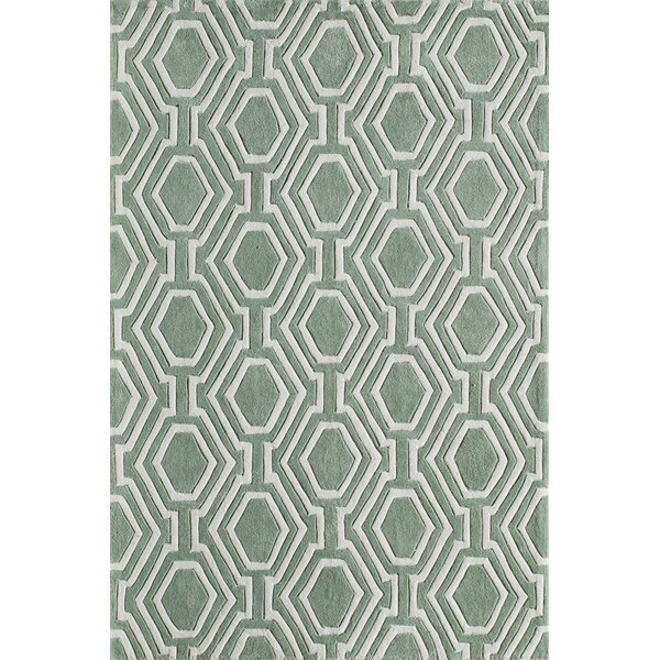 Wills Hand-Tufted Sage Area Rug by Wrought Studio