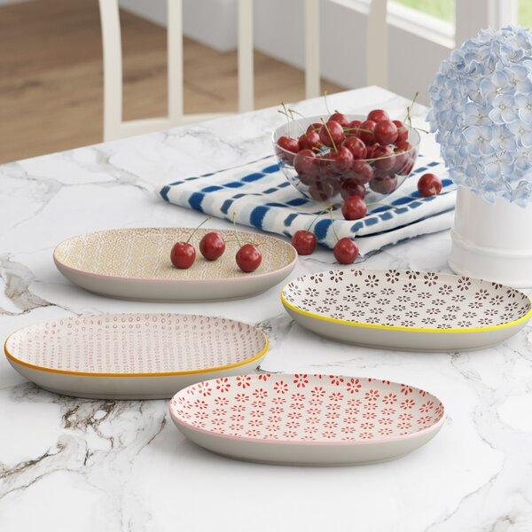 Blanchette Ceramic 4 Piece Oval Platter Set by Mint Pantry