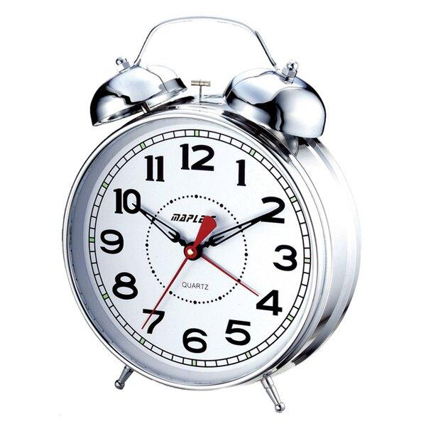 4 Desktop Double Bell Alarm Clock by Wrought Studio