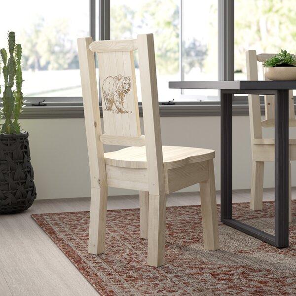 Abella Bear Solid Wood Dining Chair by Loon Peak
