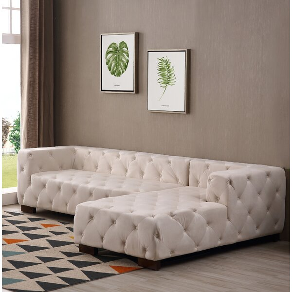 Harris Chesterfield Sectional by Everly Quinn
