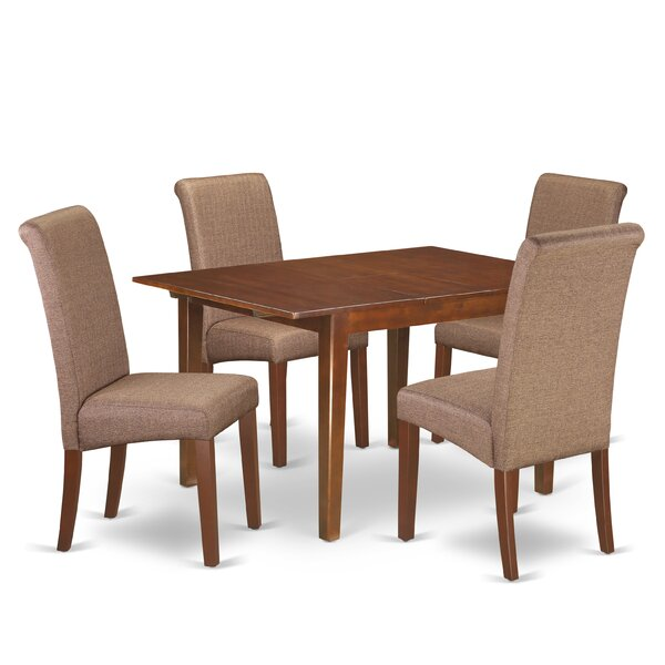 Miracle Kitchen Table 5 Piece Counter Height Extendable Solid Wood Dining Set by Winston Porter