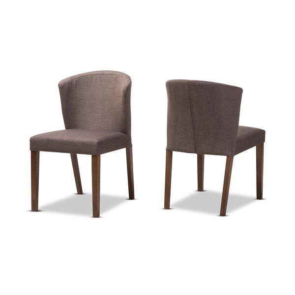 Stalnaker Mid-Century Modern Upholstered Dining Chair (Set of 2) by Brayden Studio