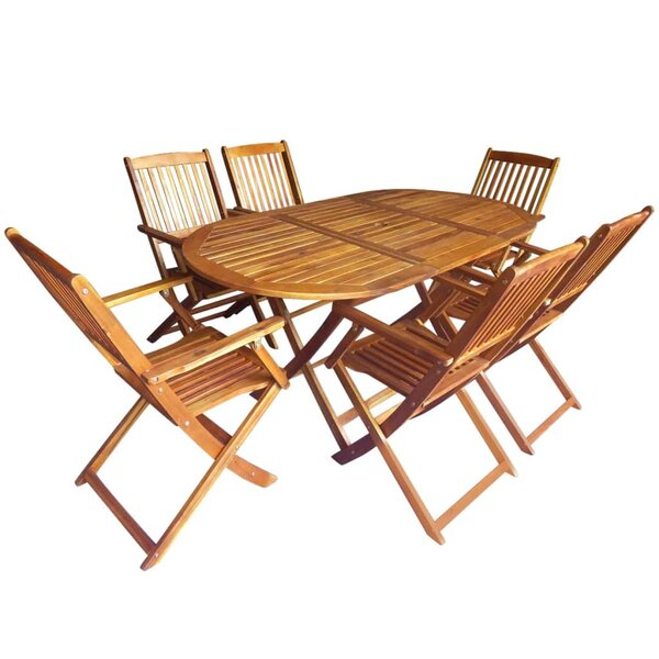 Spiegel Outdoor Folding 7 Piece Dining Set by Highland Dunes