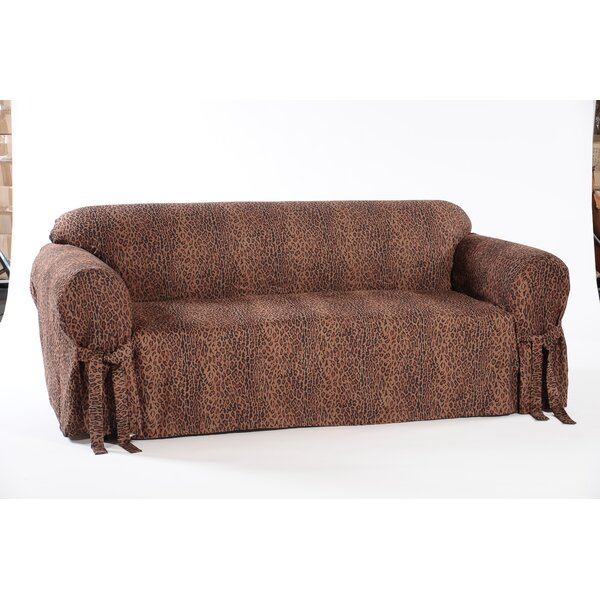 Leopard Print Box Cushion Loveseat Slipcover by Classic Slipcovers