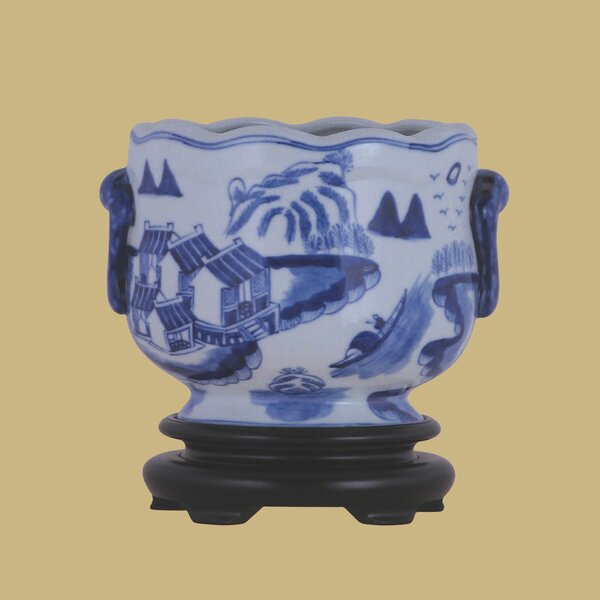 Porcelain Urn Planter by East Enterprises Inc