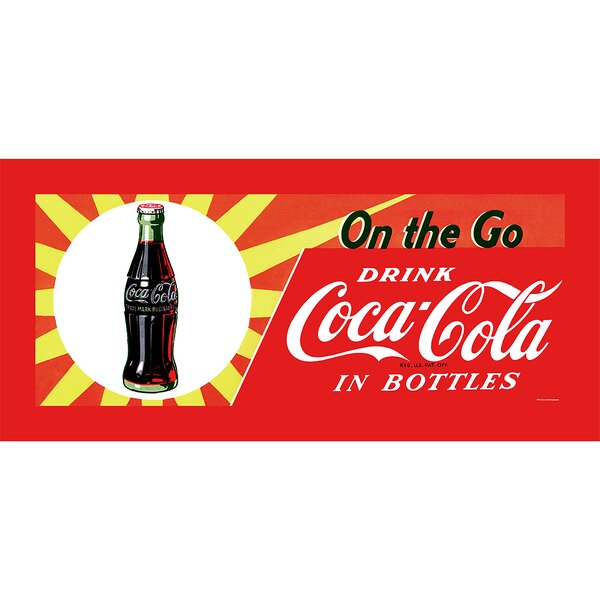 On the Go Coke Vintage Advertisement on Wrapped Canvas by Trademark Fine Art