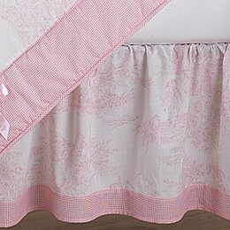 French Toile Queen Bed Skirt by Sweet Jojo Designs