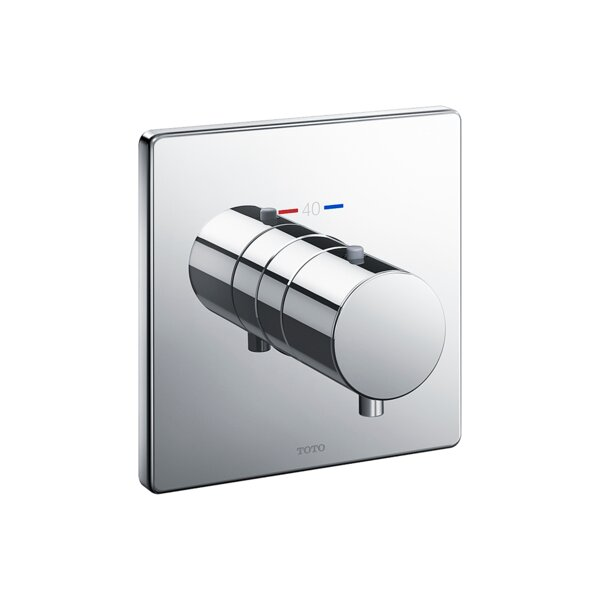 Square Thermostatic Mixing Valve Shower Trim by Toto