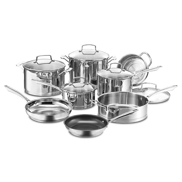 Professional 13 Piece Stainless Steel Cookware Set by Cuisinart