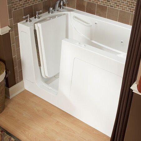 59.5 x 29.75 Gelcoat Left Hand Walk-In Air Combo by American Standard