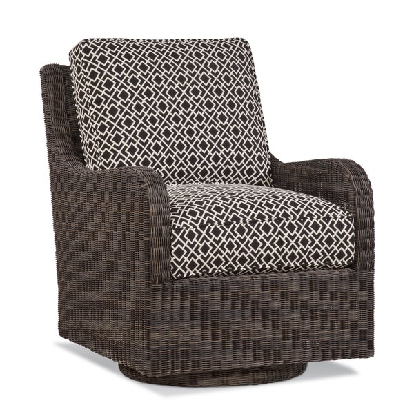 Tangier Swivel Patio Chair with Cushions by Braxton Culler Braxton Culler