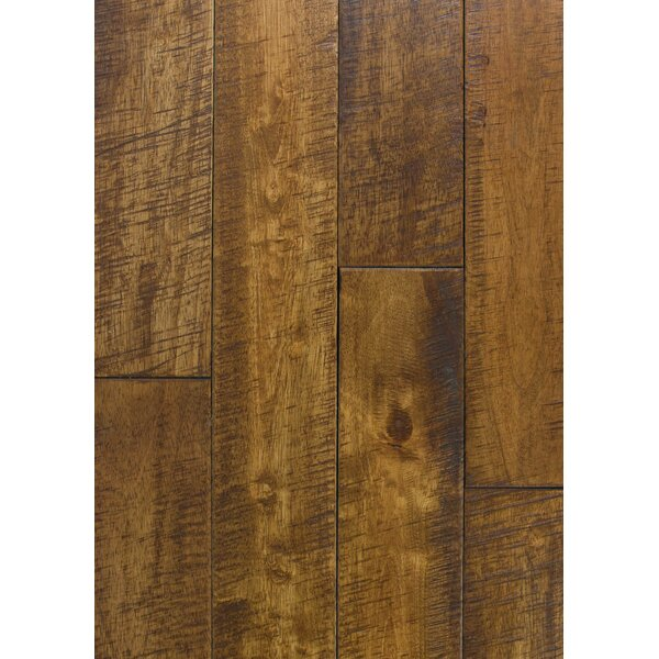 4.5 Solid Hevea Hardwood Flooring in Distressed Chai by Maritime Hardwood Floors