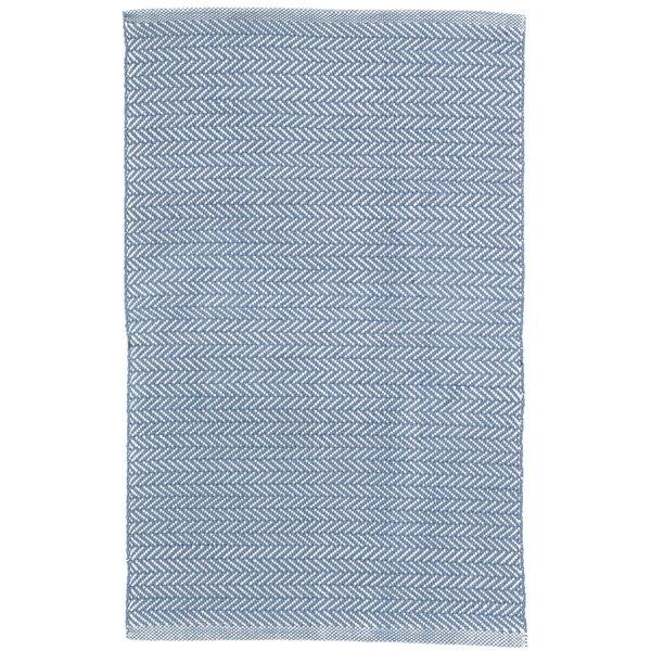 Herringbone Denim Blue Indoor/Outdoor Area Rug by Dash and Albert Rugs