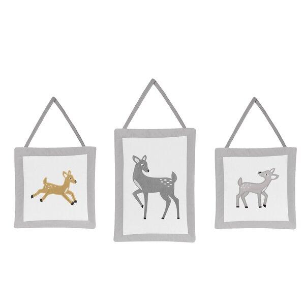 Forest Deer 3 Piece Hanging Art Set by Sweet Jojo Designs