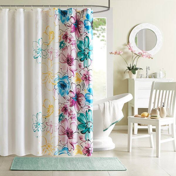 Hernadez Microfiber Shower Curtain by Viv + Rae