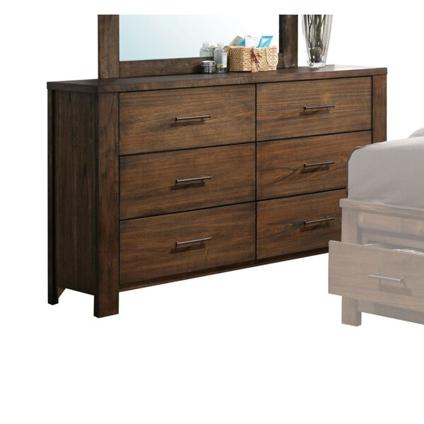 Aniya Wooden 6 Drawer Double Dresser by Millwood Pines
