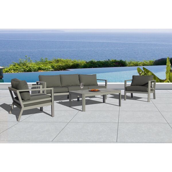 Montalto 4 Piece Sofa Seating Group with Cushions by Latitude Run