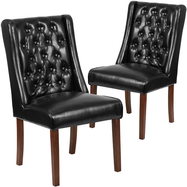 Orland Tufted Parsons Upholstered Dining Chair (Set Of 2) By Charlton Home