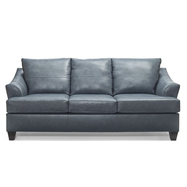 Stjohn Leather Sofa Bed by Ivy Bronx