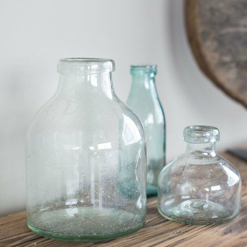 Niobrara Recycled Glass Bubble Table Vase
