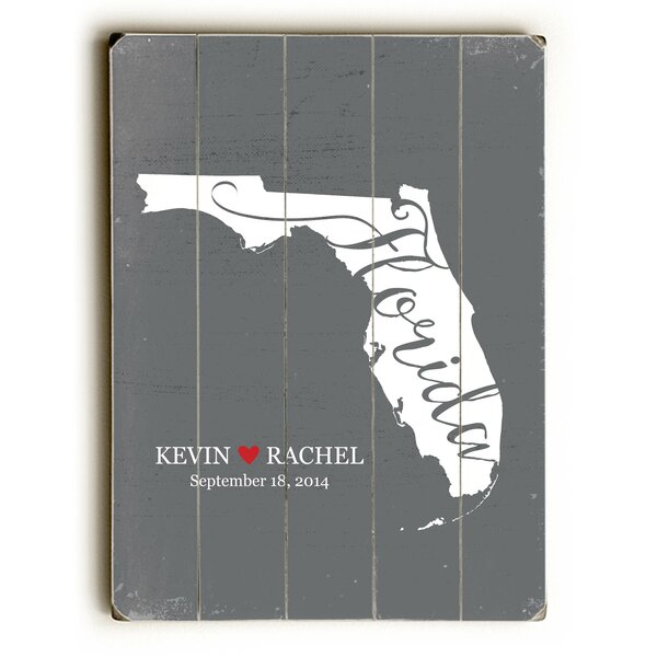Personalized Florida Graphic Art Multi-Piece Image on Wood by Artehouse LLC