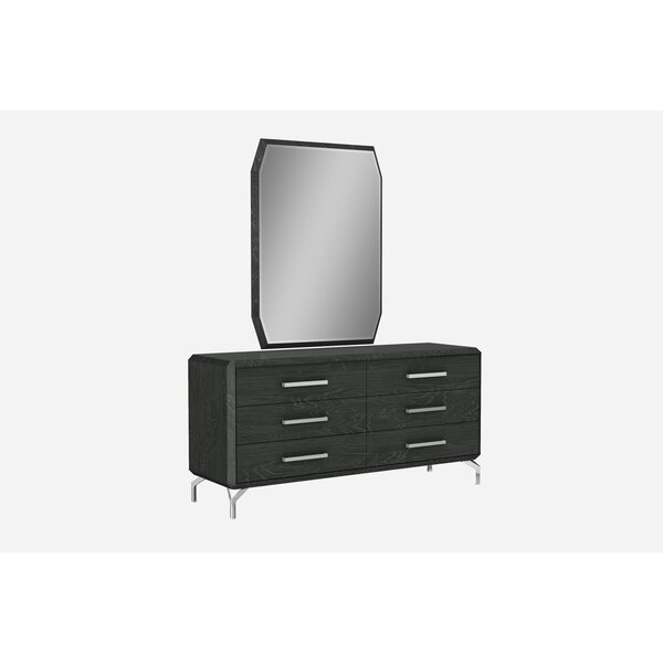 Demario 6 Drawer Double Dresser by Orren Ellis