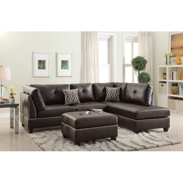 Reversible Sectional with Ottoman by Infini Furnishings