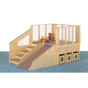 Inexpensive Tiny Tots Loft 5' x 8' Playhouse ByJonti-Craft
