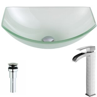 Find for Pendant Glass Specialty Vessel Bathroom Sink with Faucet By ANZZI