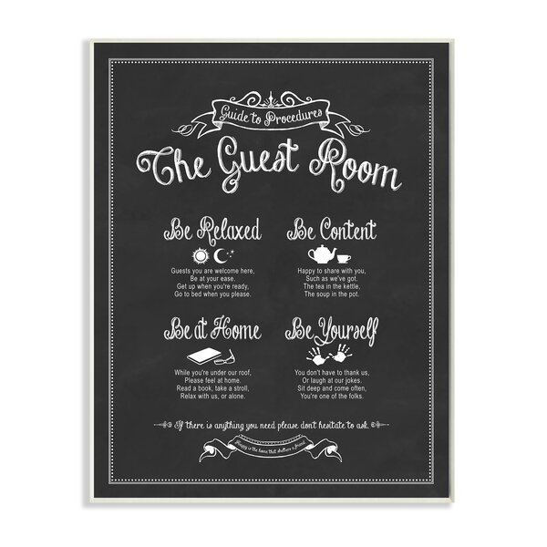The Guest Room Guide Stretched Textual Art by Stupell Industries