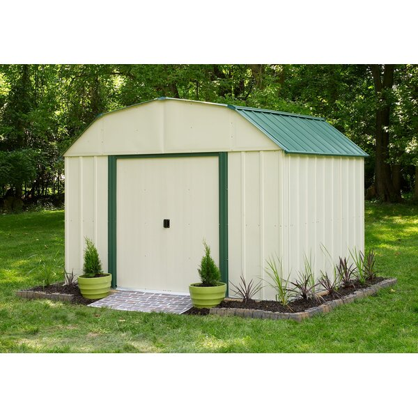 Sheridan 10 ft. 3 in. W x 7 ft. 11 in. D Metal Storage Shed by Arrow