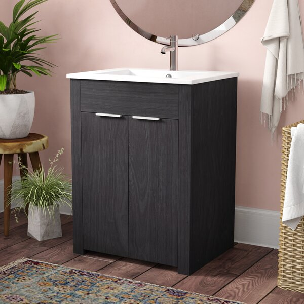 Jakob 24 Single Bathroom Vanity Set by Latitude Ru