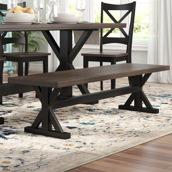 Landrum Wood Dining Bench by World Menagerie