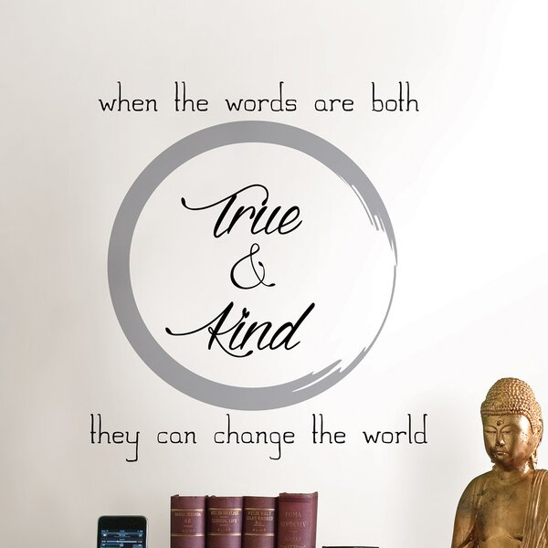 Digital True and Kind Wall Decal by WallPops!