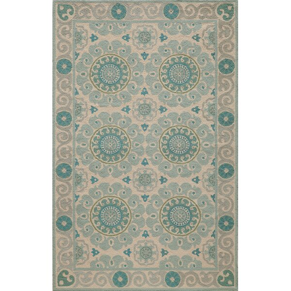 Roeser Aqua Area Rug by Bungalow Rose