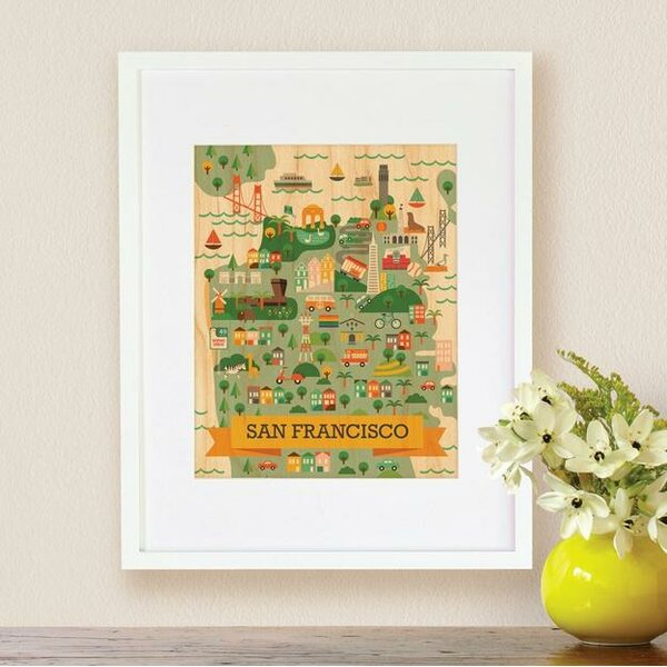 Durrah Sf Map Decorative Plaque by Harriet Bee