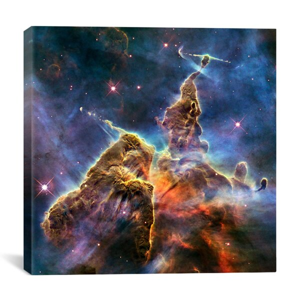 Astronomy and Space Mystic Mountain in Carina Nebula II (Hubble Space Telescope) Graphic Art on Canvas by iCanvas