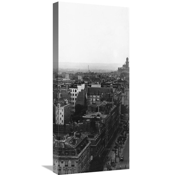 Aerial View over Paris (Right) Photographic Print on Wrapped Canvas by Global Gallery