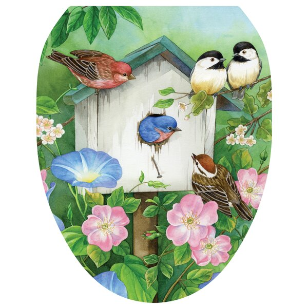 Blooming Birdhouse Toilet Seat Decal by Toilet Tattoos