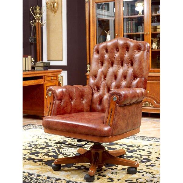 Heriberto Genuine Leather Executive Chair