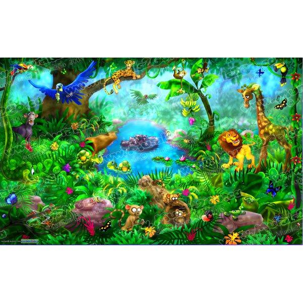Jungle Wall Mural by Wallhogs