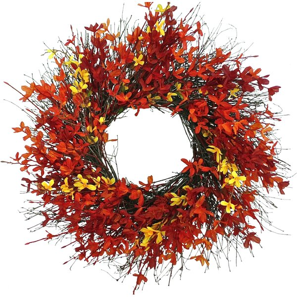 Firebush Wreath by Dried Flowers and Wreaths LLC