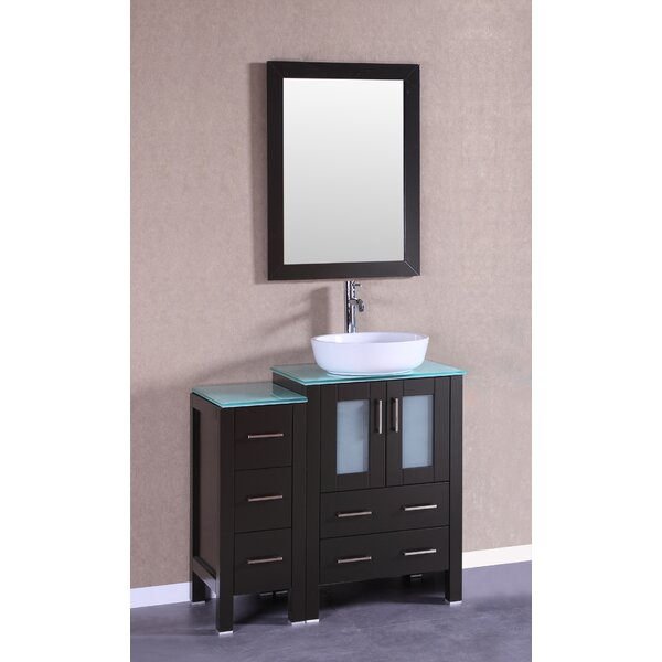 Bella 36 Single Bathroom Vanity Set with Mirror by Bosconi