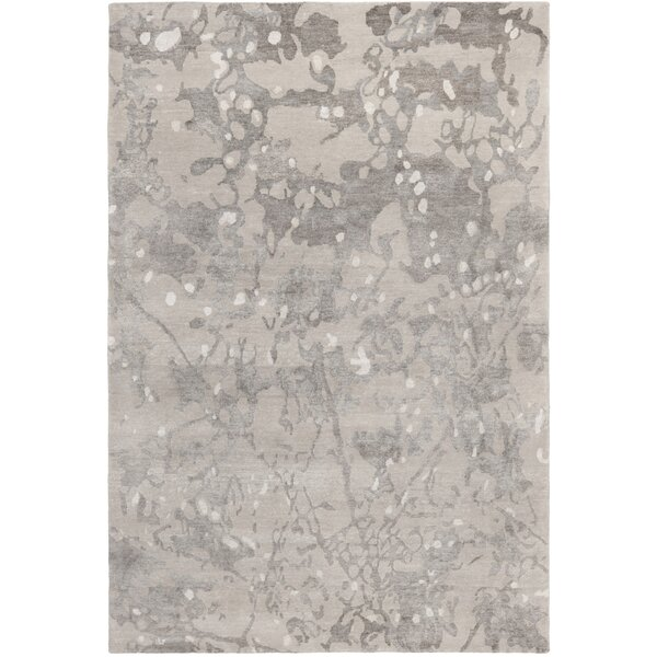 Wildhollow Abstract Hand-Knotted Smoke Area Rug