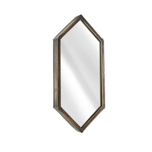 Metal Hexagon Wall Mirror by Sagebrook Home