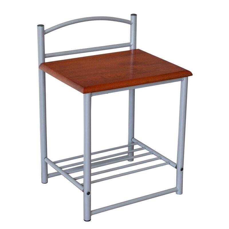 homestyle4u beistelltisch mit stauraum. Black Bedroom Furniture Sets. Home Design Ideas