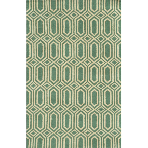 Palermo Hand-Tufted Green Area Rug by Meridian Rugmakers